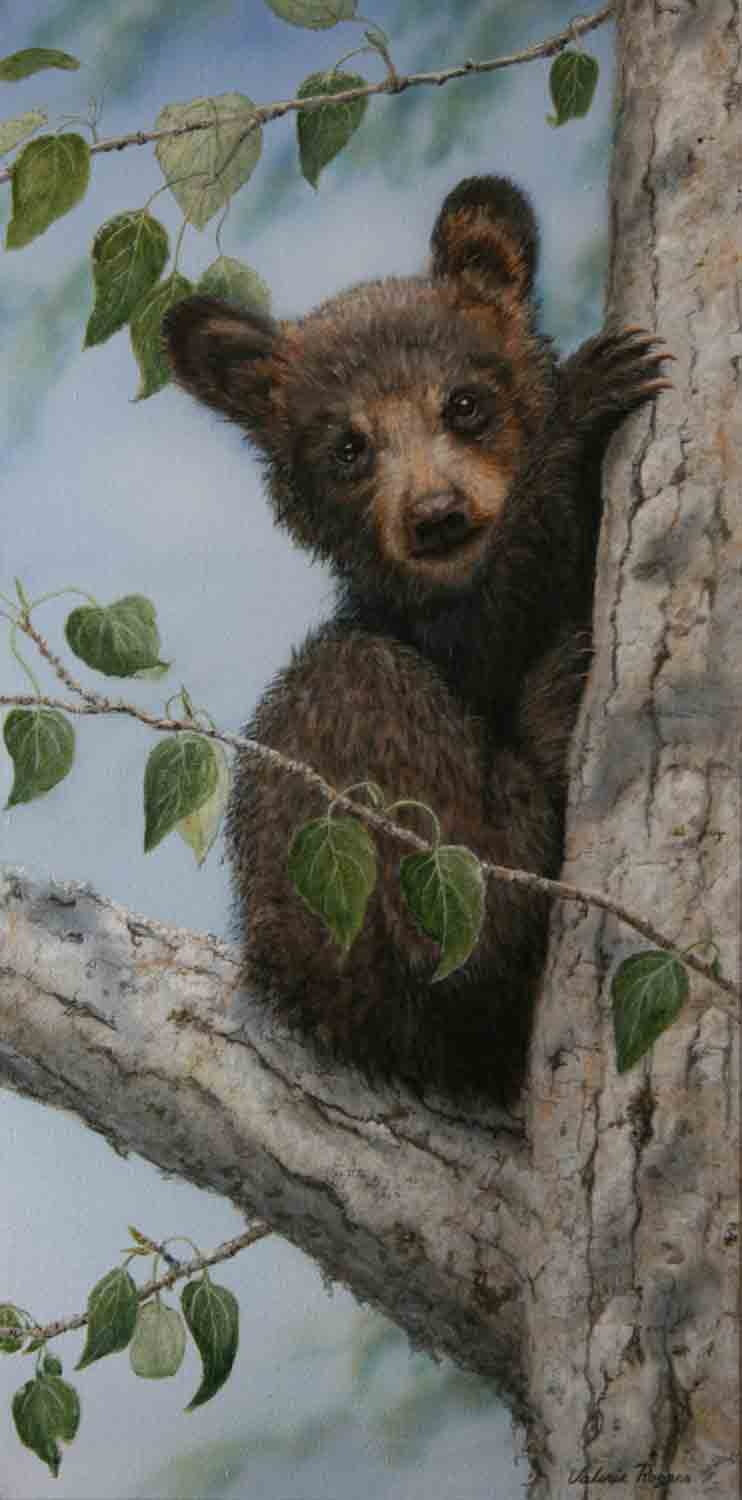 Valerie Rogers Painting of Bear Cub