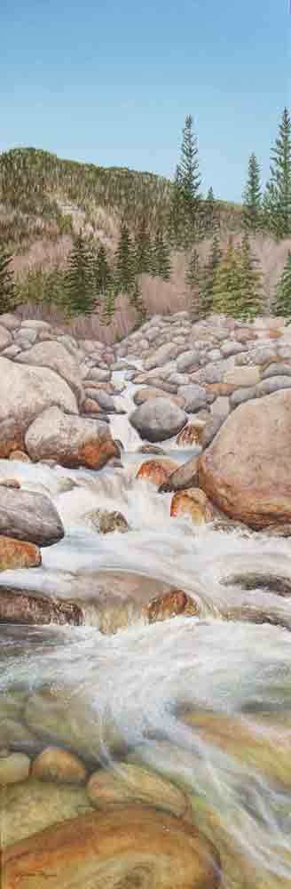 Valerie Rogers Painting of a mountain creek.