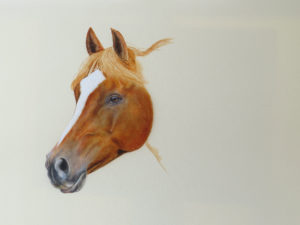 Painting horse process by Valerie Rogers