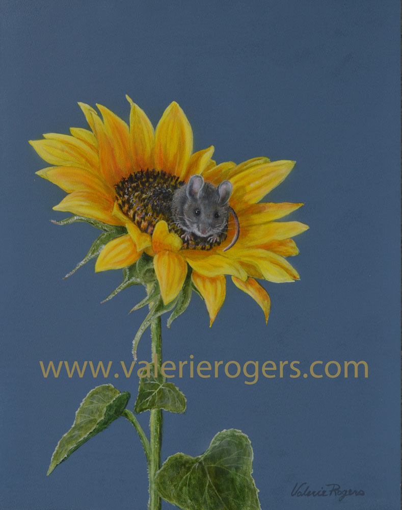 Valerie Rogers painting of mouse