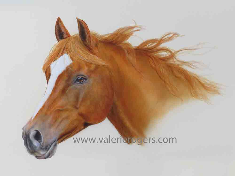 My Buddy Horses painting by Valerie Rogers